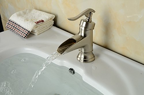 Aquafaucet Waterfall Bathroom Sink Faucets Single Control