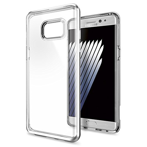 Galaxy-Note-7-Case-Spigen-Neo-Hybrid-Crystal-PREMIUM-BUMPER-Satin-Silver-Clear-TPU-PC-Frame-Slim-Dual-Layer-Premium-Case-for-Samsung-Galaxy-Note-7-2016-562CS20566