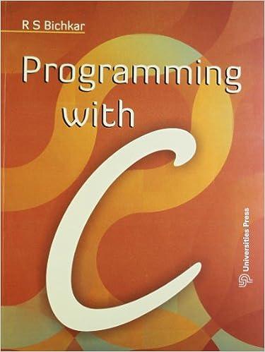 vtu-Programming with C - R. S. Bichkar