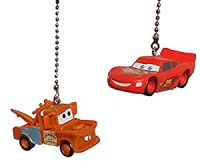 2 NEW Disney Cars Ceiling Fan Pulls Light Lamp - Ceiling ...