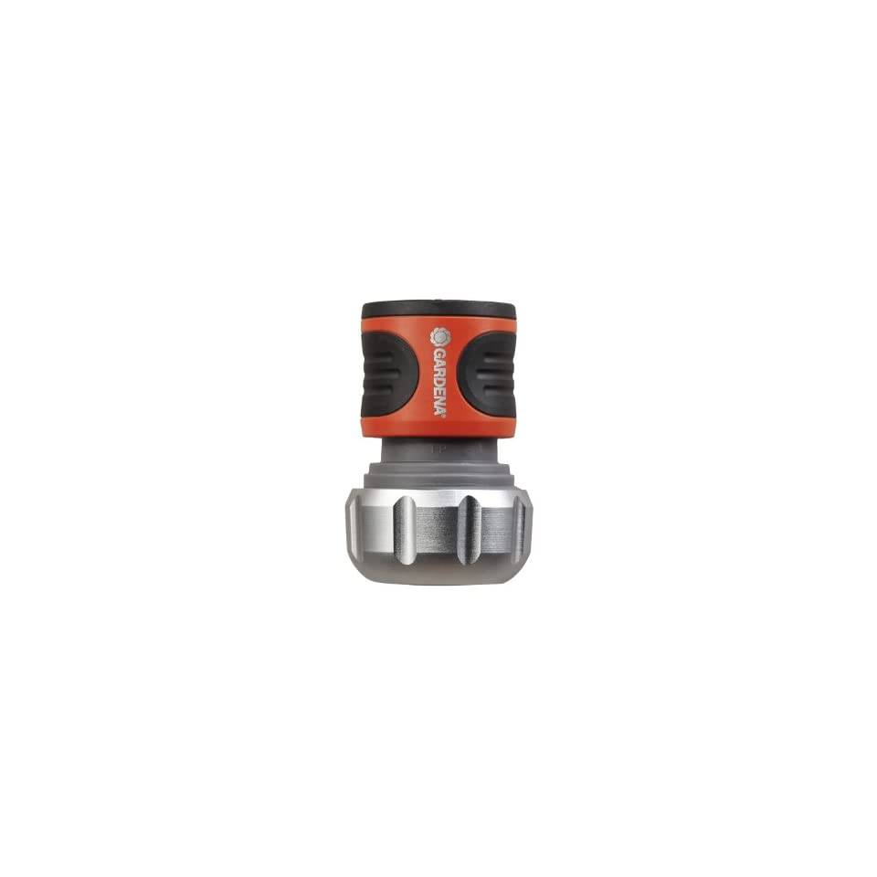 Gardena Premium Gardena 39014 Premium Metal Male Garden Hose Connector With Water