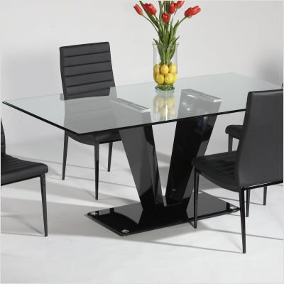 Image of Victoria Glass Top Dining Table (VICTORIA-DT)