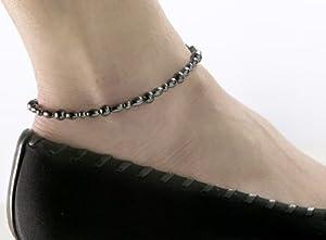 Amazoncom Magnetic Hematite Anklet 95quot Health