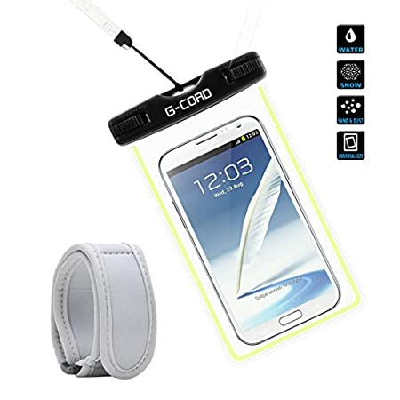 Material: TPU Fully expanded inner size: 6.0 x 3.3 Inch Lanyard: 16.5 inch Package Contents: 1 x Waterproof Case 1 x Armband 1 x Lanyard Universal Compatible with all touch phones, it works with the latest high end devices su...