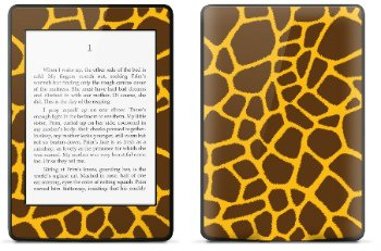 Amazon Kindle Paperwhite スキンシール アニマル キリン柄 (No.001-kpw)