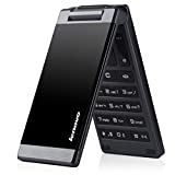 Lenovo MA388 Cheap Business Elders Flip Cell Phone 3.5-Inch with FM Flashlight Camera Bluetooth, Dual SIM GSM Network