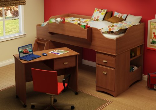 Image of Twin Size Kids Bedroom Furniture Set 73 in Morgan Cherry - Imagine - South Shore Furniture - 3576-BSET-73 (3576-BSET-73)