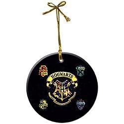Harry Potter Hogwarts Logo Custom Fashion Porcelain Gift Christmas decorations hanging Ornaments