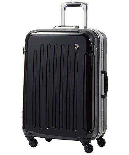 スーツケース キャリーバッグ TSAロック搭載 newPC7000 ナイトブラック L型(7~14日用) 鏡面加工