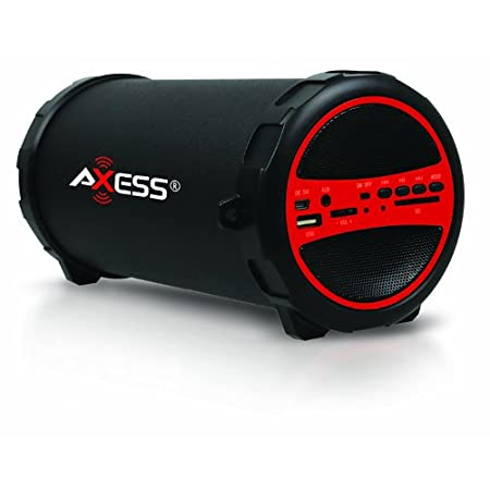 Enjoy your music outdoors wirelessly, with the Axess SPBT1031 Portable Outdoor Hi-Fi Cylinder 2.1 Speaker with Bluetooth. You will be amazed with the clear sound, heavy bass and dynamic sound effects. Stream your favorite music from any Bluetooth ena...