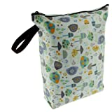 Blueberry Diaper Wet Bags, Snails