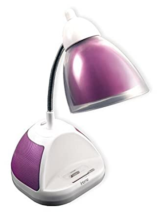 iHome Desk Lamp with iPod/MP3 Dock, Pink