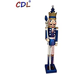 4ft/5ft/6ft giant wooden nutcracker king/soldier in various colors and designs (5 feet, king purple k32)