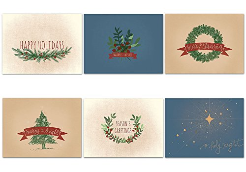 Blank Xmas Cards peace doves christmas holiday cards - set of 14