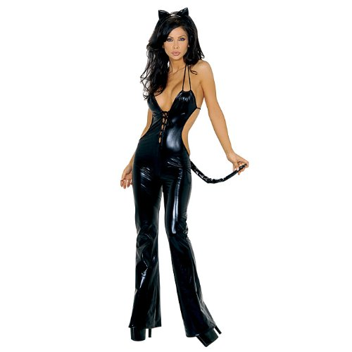 Feisty Feline Black Cat Sexy Halloween Costume For Women (Adult Sizes) - Brand New!