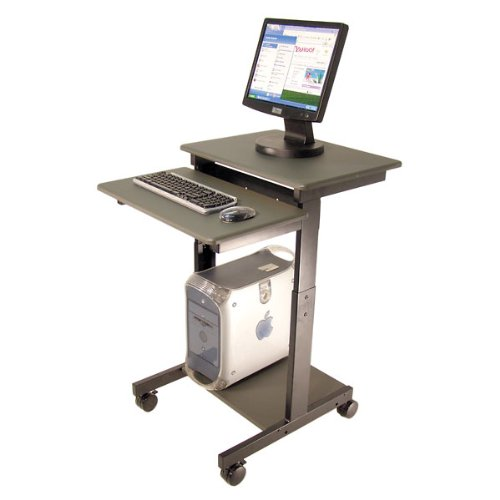 Picture of Comfortable MOBILE ADJUSTABLE HEIGHT COMPUTER WORKSTATION; 36