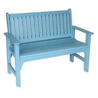 Amazon.com : Generation Line Garden Bench, Sky Blue ...