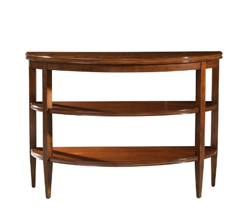 Image of Crescent Entryway Console Table 3 Tier in Fullerton Brown Finish (VF_AZ00-52415x25882)