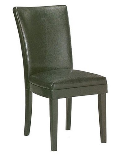 Dining Room Chairs 2 New Black Leather Like Parson Chairs