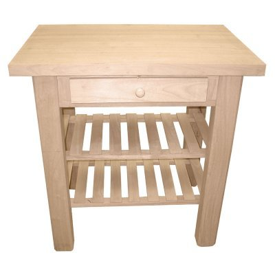 Image of International Concepts WC-3624 Kitchen Island, Unfinished (WC-3624)