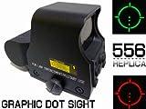 EOTECHドット/ダットサイト556レプリカ ホロサイトスコープQDレバー付き/エアガン照準器