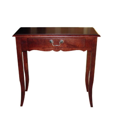Image of Entryway Console Sofa Table with Curved Apron in Cherry Finish (VF_AZ00-52335x26293)