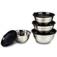 Stainless Steel Mixing Bowls Set With Lids Home Garden ...