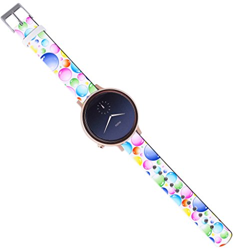 Moto-360-2nd-Gen-Strap-42Mm16Mm-Watch-Strap-Band-Leather-Moto-360-2nd-Gen-42Mm-Women-Version-Replacement-with-Quick-Release-Pins-Colorful-Rainbow-Color-Art-Designer