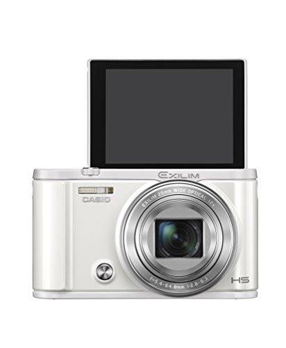 CASIO デジタルカメラ EXILIM EX-ZR3100WE 自分撮りチルト液晶 スマホへ自動送信 ホワイト