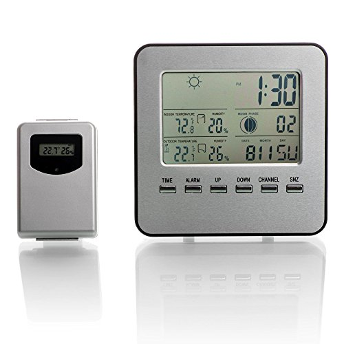 BestWeather A120 Wireless Indoor Outdoor Thermometer with Humidity, Weather Forecast, and More