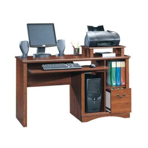 Picture of Comfortable Computer Desk - Planked Cherry Finish (B004XESPJW) (Computer Desks)
