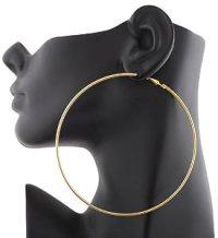 Amazon.com: 12 Pairs of Goldtone 4 Inch Hoop Earrings: Jewelry