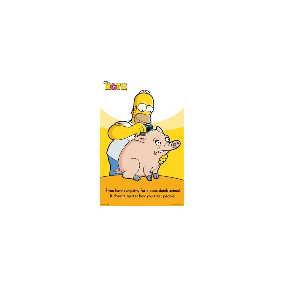 Bettwäsche Simpsons The Simpsons Poor Animal Movie Homer Poster X New 9038 On Popscreen