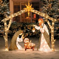 Nativity Scene Lighted Yard Displays | Christmas Wikii