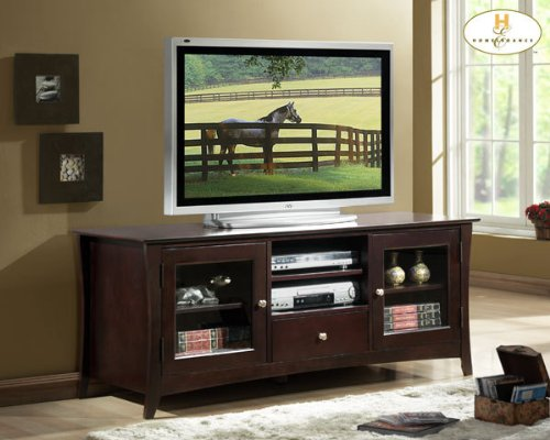 Image of Borgeois TV Stand in Espresso Finish (8740-T)