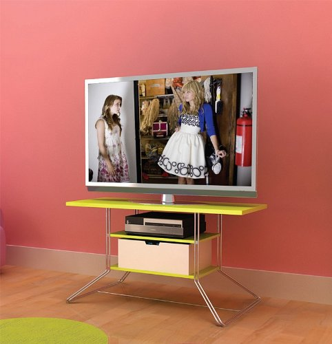 Image of Flat Panel LCD TV Stand with Double Rod Frame and Lime Shelves (AZ00-49044x21169)