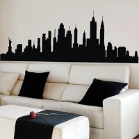 Skyline Wall Decals Like Paintings! Easy to Use : Funk ...