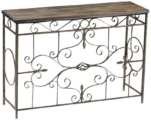 Image of Schafer Iron Scroll Console Table (B003VSAJ4K)