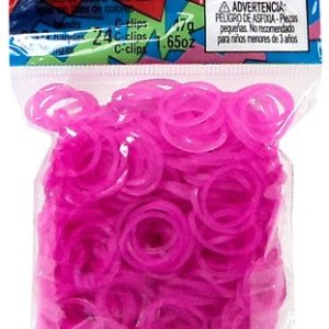 Brand-New-Rainbow-Loom-Rose-Jelly-Rubber-Bands-Refill-C-clips