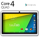 NeuTab® N7 Pro 7'' Quad Core Google Android 4.4 KitKat Tablet PC, HD 1024X600 Display, Bluetooth, Dual Camera, Google Play Pre-loaded, 3D-Game Supported (White)