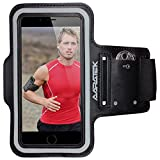 AARATEK Pro Sport Armband for iPhone 6, Galaxy S6|S5|S4 (Black) - Rated #1 - Best for workouts, running, cycling, or any fitness activity outside or in the gym - Listen to your favorite motivating music while your phone is held securely on your arm! - Deluxe lightweight sweat resistant neoprene sleeve with superior grip system, key holder and reflective case to protect your phone - Room for cash/card too - Various sizes and colors available...