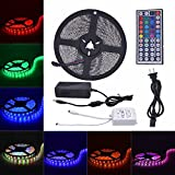 Daisen tech 5M(16.4ft)300LEDs Waterproof Flexible Color Changing RGB SMD5050 LED Strip Lights Kit (Multi-colored)