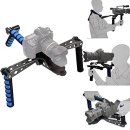Patuo Patuo Foldable DSLR Shoulder Mount Rig for Camera Camcorder Movie Film Handle Steady Stabilizer Kit