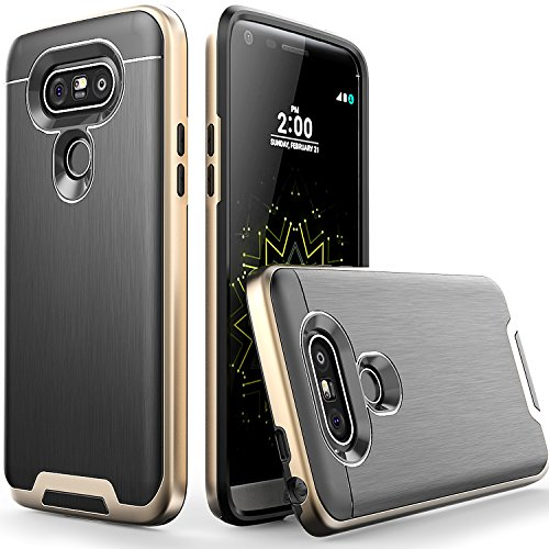 Artech-21-Lazer-Series-Ultra-Slim-Dual-Layer-Hybrid-Bumper-Case-for-LG-G5-Champaign-Black