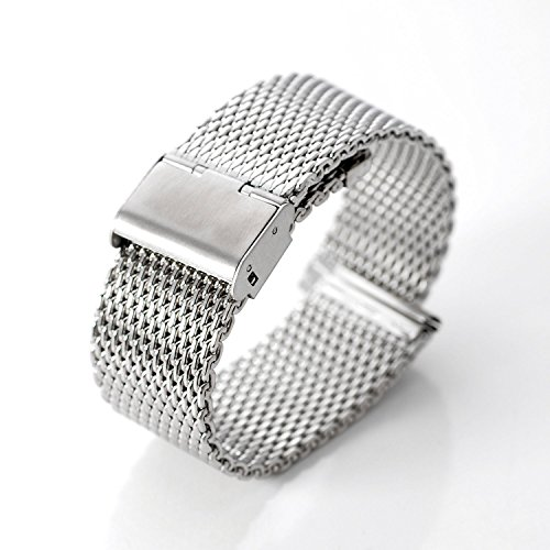 DHMXDC-Stainless-Steel-Mesh-Strap-22mm-for-Motorola-Moto-360-and-Lg-G-Watch-Silver