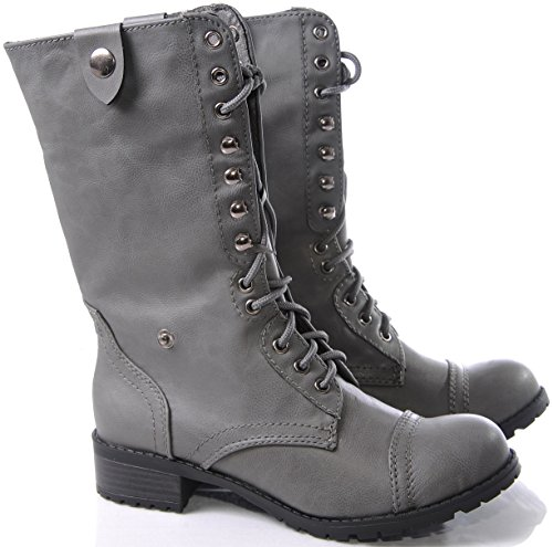 Gray Combat Boots For Women Boot Ri