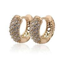 GOMO 18K Gold Filled CC Hoop Earrings Women Earring ...