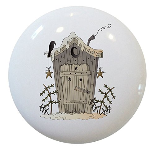 Outhouse Ceramic Cabinet Drawer Knob