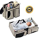 Boxum 3 in 1 - Diaper Bag - Travel Bassinet - Change Station - (Cream) - Multi-purpose #1 Baby Diaper Tote Bag Bed Nappy Infant Carrycot Crib Cot Nursery Portable Change Table Portacrib Boy Girl Top Best Quality, Newborn