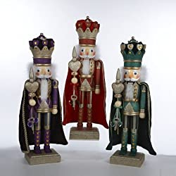 "2012 Kurt Adler 24"" Hollywood Royal King 3 Assorted Nutcrackers Red, Green & Purple"
